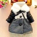 Jaqueta Acolchoada de Algodão macio Do Bebê Roupas de Menina Crianças Coisa 70D047 Jaqueta Casacos Estilo Europeu Rosa Bebê Recém-nascido Cardigan Infantil