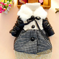 Soft Cotton Padded Jacket Baby Girl Clothes Kids Thing Casacos Estilo Europeu Pink Baby Newborn Jacket Cardigan Infantil 70D047