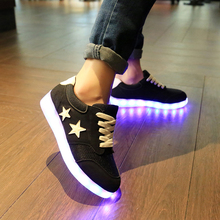 2017 New Arrival Led Shoe Men&couple Shoes With Light Quality Glow Usb Night Club Style Tenis De Led Simulation Zapatos Hombre