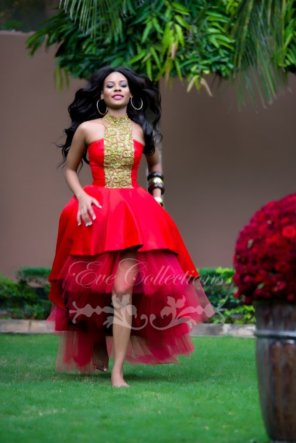 Aliexpress.com : Buy African Red High Low Prom Dresses 2015 Plus ...
