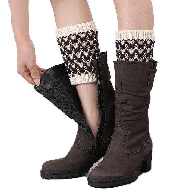 Winter Herbst Warm Knit Aufladungs Stulpen Socken Stiefel Wärmer