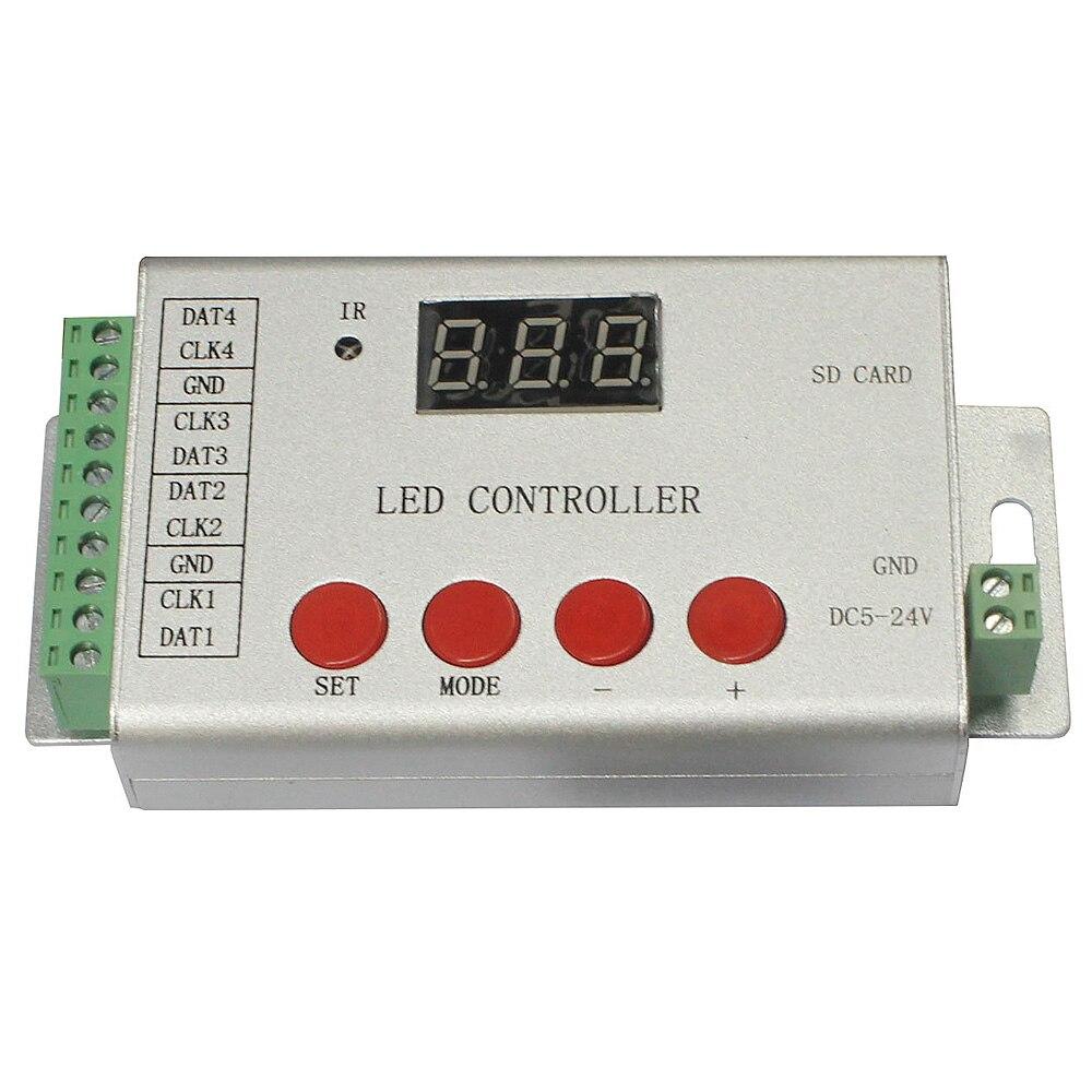 4 ports LED de contrôle, lecteur max 6144 pixels, télécommande infrarouge, WS2812, WS2813, UCS1903, contrôleur programmable à bande SM16703
