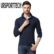 URSPORTTECH Brand Mens Polo Shirt Men Casual Spring Autumn Long Sleeve Shirts High Quality Cotton Breathable Homme