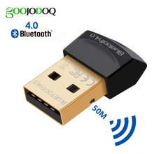 Bluetooth adaptörü V4.0 CSR çift mod kablosuz Mini USB Bluetooth Dongle 4.0 verici bilgisayar PC için