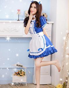 Image 3 - Disfraz de criada para mujer, traje de sirvienta de café, disfraz de dama Sissy, uniforme Sexy, Cosplay de Halloween para mujer, ropa de Festival