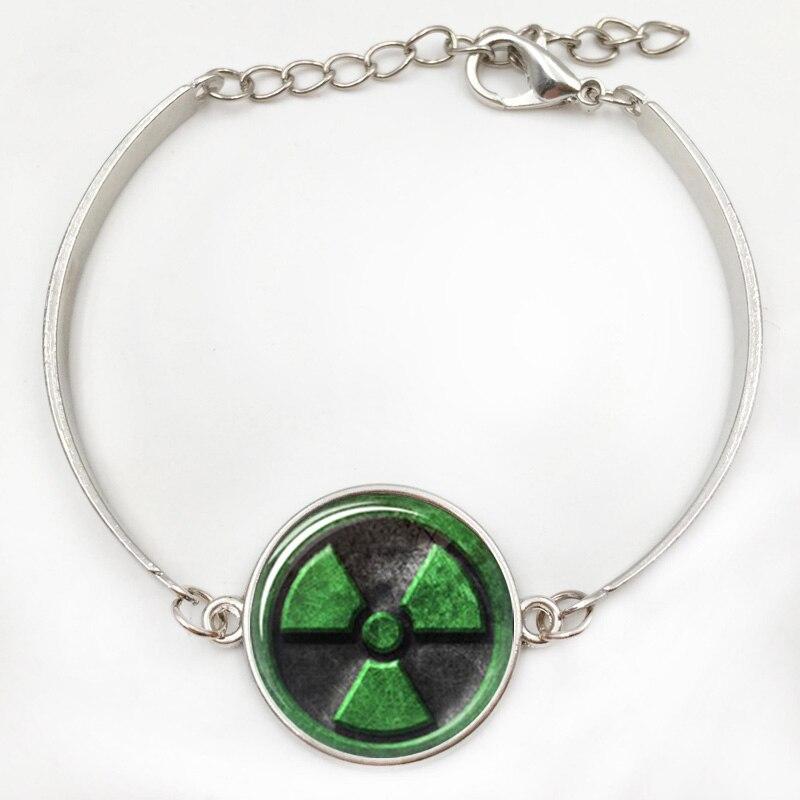 Incredible Hulk Avengers Radiation Symbol Inspired Glass Cabochon