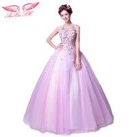 AnXin SH Kleurrijke bloemen avondjurk zachte roze paars bruid avondjurk diner prestaties avondjurk 2067