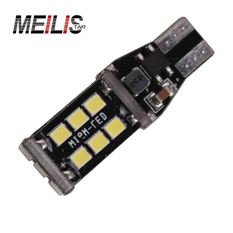 Free shipping 1x New 7.5w T15 LED Reverse Light W16W 15SMD Car LED NO ERROR Back UP light rear Lamp white Car styling 1pc super bright t10 12v 7 5w car led smd back up rear reverse lamp light white 6000k