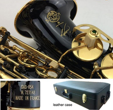 Selmer R54 Black Nickel Gold Saxophone Alto Brass Instruments Alto Saxophone Selmer Carved Eb Sax with mouthpiece,leather case