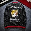 Европа и соединенные Штаты MA-1 куртка мужской тигр head вышивка бейсбол молодежи локомотив PU кожаная куртка