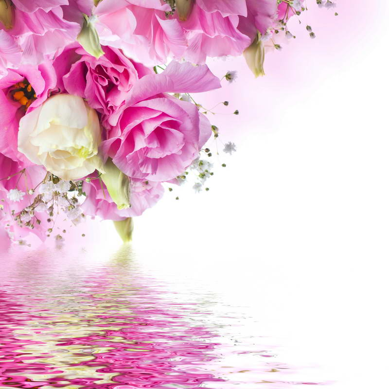 Bokeh Flowers Wedding: TR 5x7FT Pink Flowers Bokeh River Water Shadow Custom