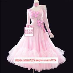 Бальные платья Румба Джайв Чача Бальные латинского платье для танцев для девочек Для женщин изготовление под заказ конкурс бальных танцев