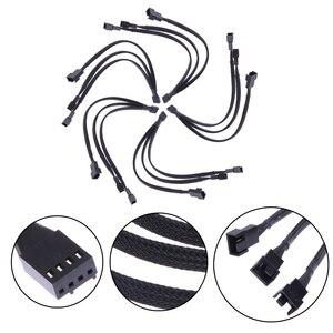 Image 5 - 4 Pin Bộ Chia Tay PWM Phụ Kiện Đồng Mạ Thiếc Nối Di Động CPU Cổng Kết Nối 1 Đến 3 Cách Văn Phòng Thiết Thực