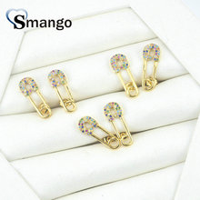 5 Pairs,The Rainbow Series,The Pin Shape, Hoop Earrings for Women Fashion Design, Gold Color,Can Mix Can Wholesale