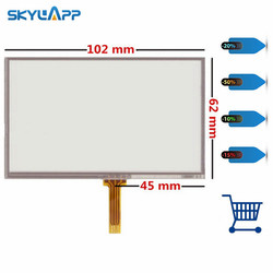 Skylarpu nowe panele z ekranem dotykowym dla GARMIN Nuvi 1340 1340T 1350 1350T GPS ekran dotykowy wymiana panelu digitizera darmowa wysyłka