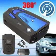 DC 12V автомобильный Дальнобойщик скорости V7 радар детектор голосового оповещения Предупреждение Авто 360 градусов