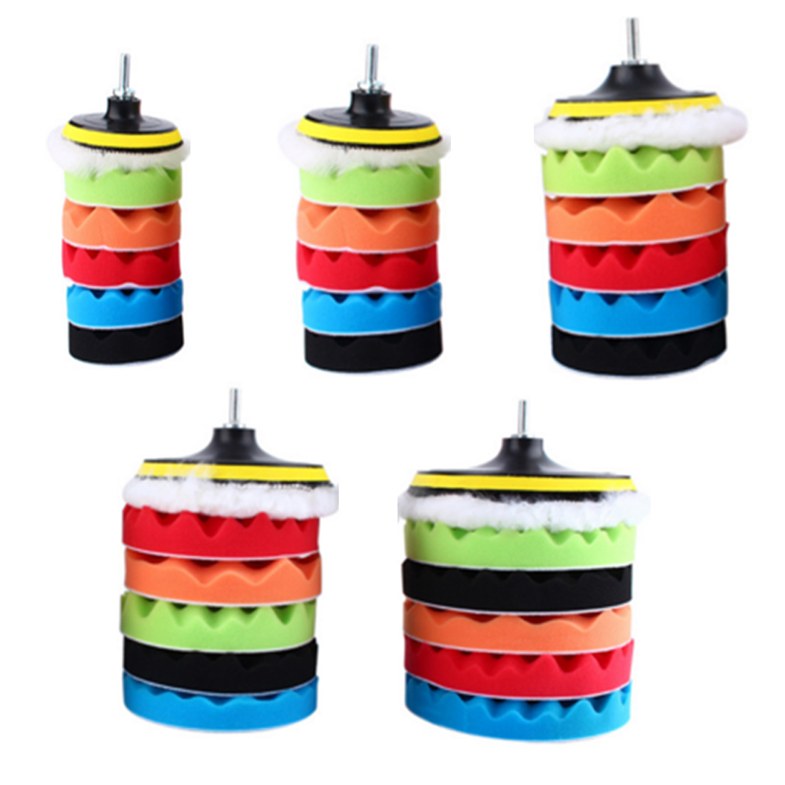 2018 New 3/4/5/6/7 Inch Automotive Polishing Tools Car Polishing Disc Sponge Polishing Wheel Wool Pad 8 Piece Beauty Waxing Set
