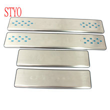 Car Stainless Steel Door Sill Scuff Plate Welcome Pedal for Renault Captur 2015 - 2016 free shipping stainless steel back rear trunk sill scuff plate protection pedal for 2012 2015 skoda rapid rapid spaceback