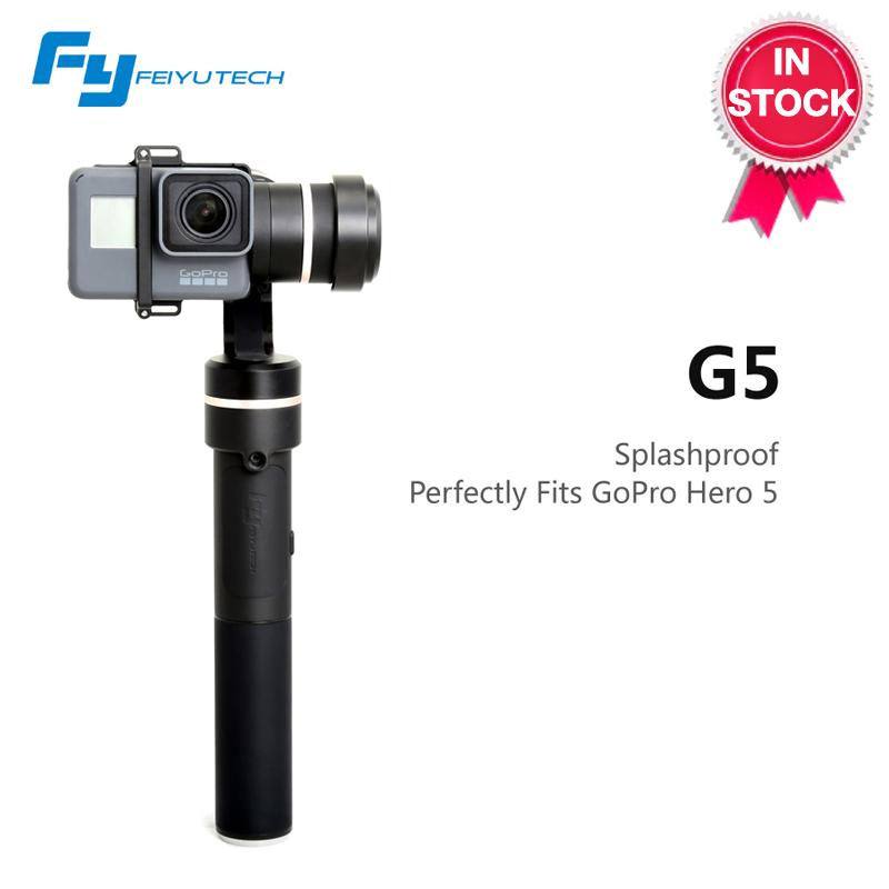Prix pour Feiyutech fy g5 éclaboussures cardan pour gopro hero 5 xiaoyi aee xiaoyi 4 K caméra et similaires taille caméras d'action feiyu G5 cardan