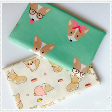 Lovely Dog Printed Twill Cotton Fabric Patchwork Cloth,DIY Sewing Quilting Fat Quarters Material For Baby&Child