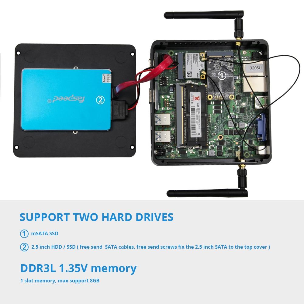 Mini PC Windows 10 Intel Celeron 3755 J1800 J1900 Pentium 3805U Miciro Computer 2*Gigabit Ethernet 2*RS232 4*USB Industrial PC