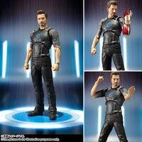 Homem de ferro Maravilha Escudo SHF XINDUPLAN Filme Avengers Tony Stark Ironman Luz Brinquedos Action Figure 15 cm Coleção Crianças Modelo 1036