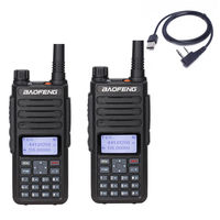 2Pcs Baofeng DM 860 digital Walkie Talkie Dual Time Slot DMR tier2 Tier I&II long range ham protable radio up of dm 1801 dm 5r