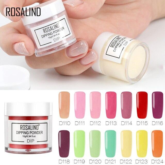 ROSALIND 10g Dipping Powder Nail Natural Color Holographic Glitter Nail Art Powder No Need Lamp Cure Manicure Nail Glitter