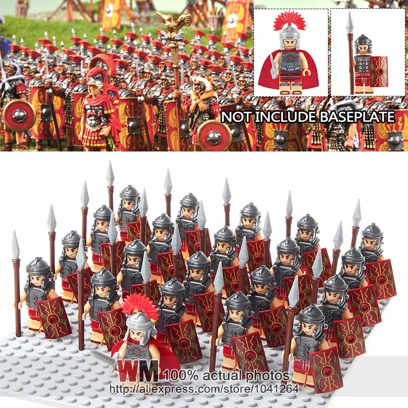 Blocks Amicable Building Blocks 21pcs/lot Wm1023 Medieval Knights Heavy Infantry Roman Soldiers Centurion Army Group Toys Children Gifts
