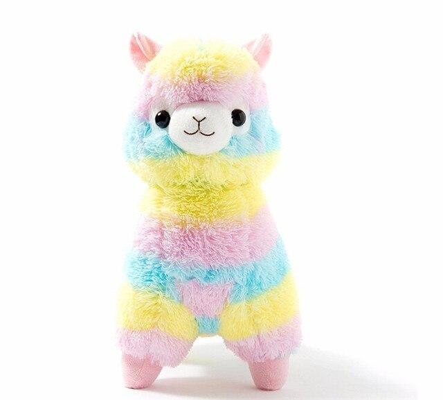 45 см гигантские Радуга Альпака Плюшевые Овец Игрушка Японский Мягкие Плюшевые Ламы Alpacasso Овец Мягкие Игрушки Подарки для детей