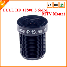 CCTV Lens 1080P 1/2.7'' 3.6mm For HD Full HD CCTV Camera IP Camera M12*0.5 MTV Mount