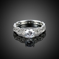 Duyên dáng Wedding Rings Bất 925 Sterling Silver Ring Kích 6/7/8/9 SVR123 Bán Buôn Đồ Trang Sức Cô Dâu vẻ đẹp Món Quà