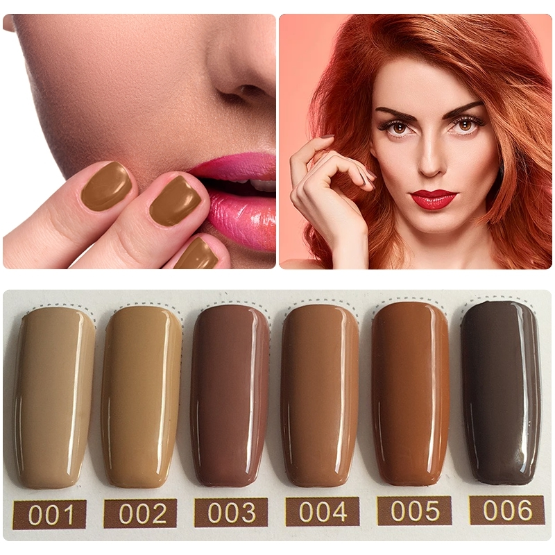 MIZHSE New Arrival Peru Brown Colors Series Gel Nail Polish Gorgeous Brown Color Series Shiny Surface UV LED Gel Polish 7ML