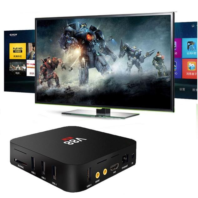 Jogador Caixa de TV inteligente XBMC WiFi Full 1080 P HD Android 5.1 Quad Core Mini PC Plug UE LJJ0110