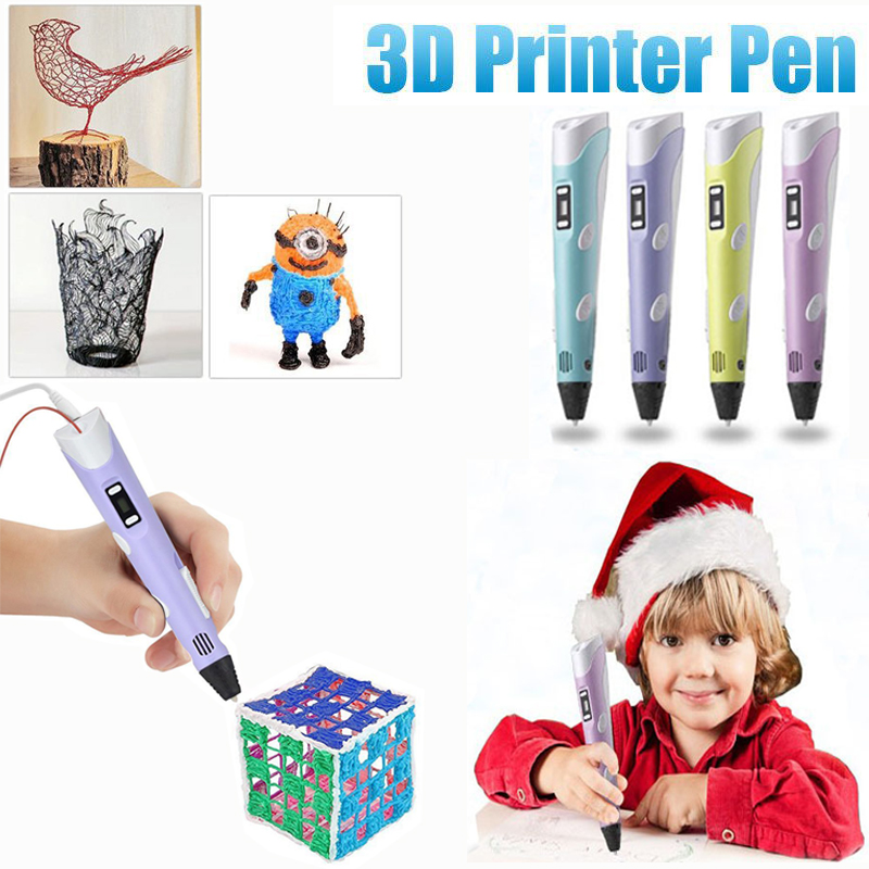 3D pen Creative set toys for children plastic drawing Creativity arts and crafts kids Painting Educational christmas gifts цена и фото