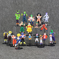 20Pcs/Lot  Two Style Dragon Ball Mini Q Version Action Figure Son GoKu Bulma Oolong Yamcha Tenshinhan Model For Gift Collectible