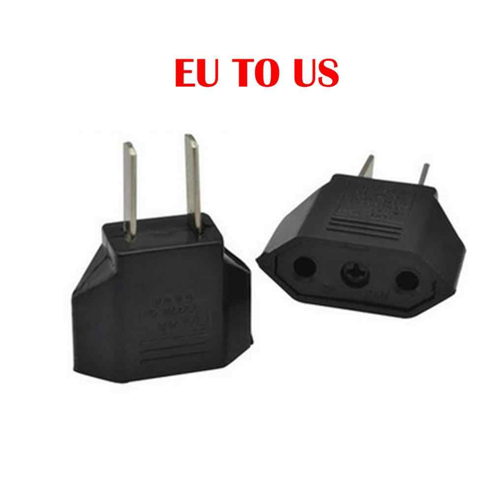 EU Power Adapter Plug 6A USA to Euro Europe Wall Power Charge Outlet Sockets US 2 Flat Pin to EU 2 Round Pin Plug Socket Adapte