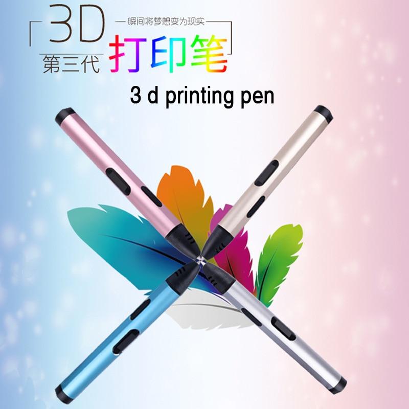 ФОТО 3 D Pen USB Plug 5V 2A Creative Pen 3 D graffiti pen Digital 4 speed regulation Best Gift For Kids 3nd 3d printing pen hot