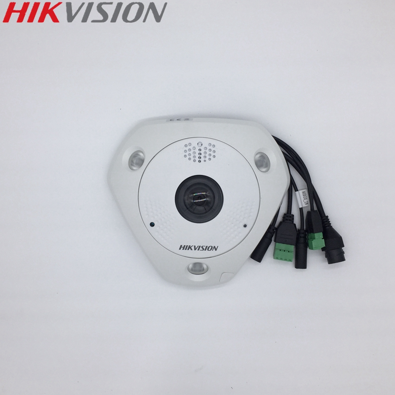 HIKVISION DS 2CD63C2F IVS Chinese Version 12MP Fisheye View IP Camera Support Outdoor Microphone ONVIF SD