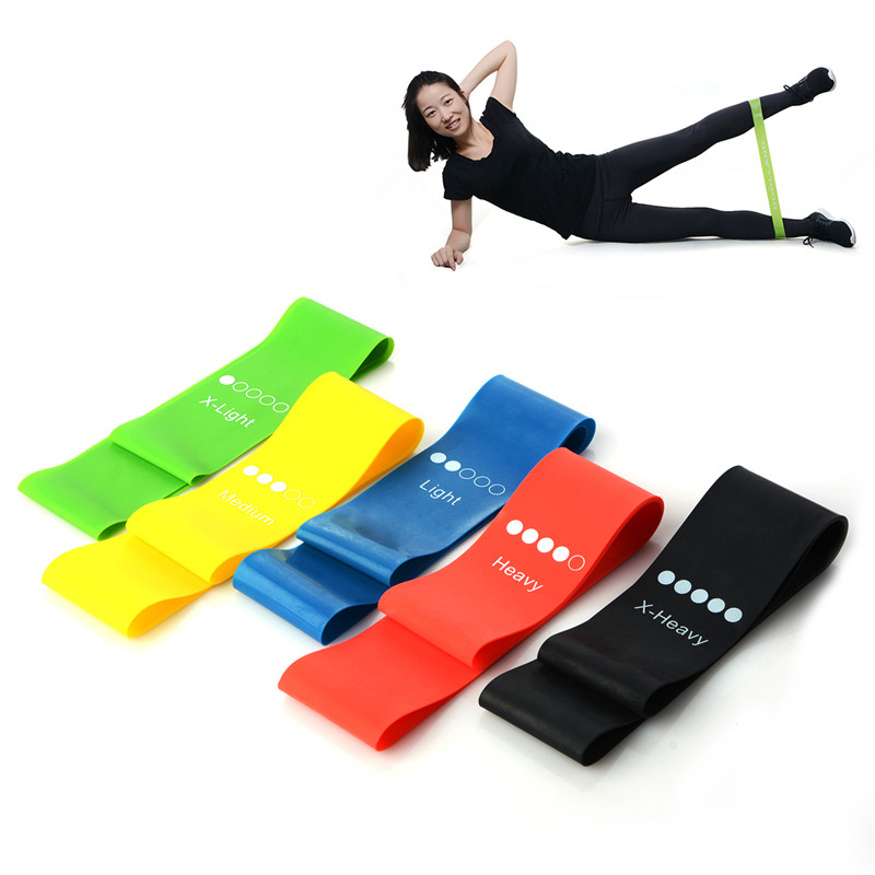 Sports Yoga Resistance Rubber Bands Fitness Equipment Outdoor 0.35mm-1.1mm Pilates Sports Training Body Ankle Legs Elastic Band