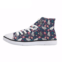 NOISYDESIGNS American Shorthair Cat Flower Print Women Vulcanize Shoes Spring Summer High Top Canvas Shoes Female Sneakers Flats instntarts universe star women casual flats shoes cool animal purple wolf print woman s high top vulcanize canvas shoes sneakers