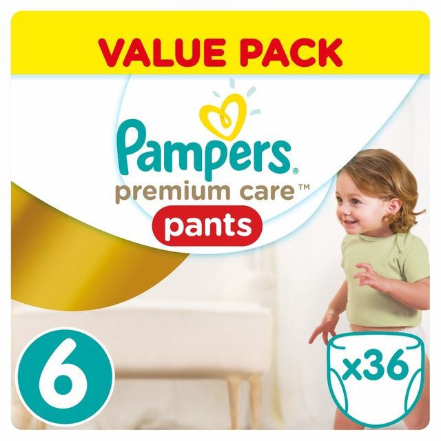 Трусики Pampers Premium Care Pants 16 кг+, размер 6, 36 шт.
