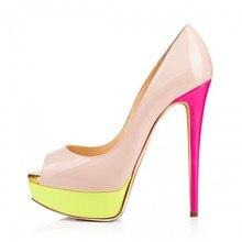 Rosa Graceful Peep Toe Frauen Pumpen Damen Stilettos 16 cm Extra High Heels Mode OL Schuhe Frauen Pumpen für Partei Kleid schuhe