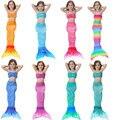 2017 niños niñas cola de sirena traje de baño con las colas monoaleta sirenita niños nadar traje de baño bikini con fancy dress