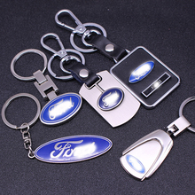 New Keychain Car Key Ring High-grade Chain Auto Keyring Stainless Steel Keyfob Styling Pendant Accessories