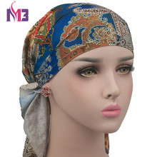 New Women Satin Silk Flower Turban Beanie Hat Bonnet Chemo Cap Muslim Scarf Hijab Islamic turbante цена в Москве и Питере