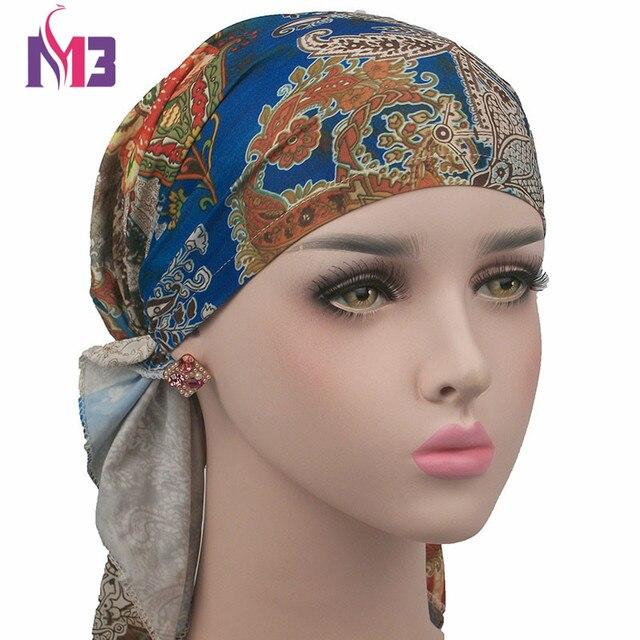 Nuove Donne Fiore di Seta Raso Turbante Cappello Beanie Bonnet Headwear per  Tappo Chemio Turbante Sciarpa 8d85c17b0af8