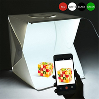 16 Inch Portable Photo Studio Shooting Tent LEPOTEC Small Foldable LED Light Box Softbox Kit With