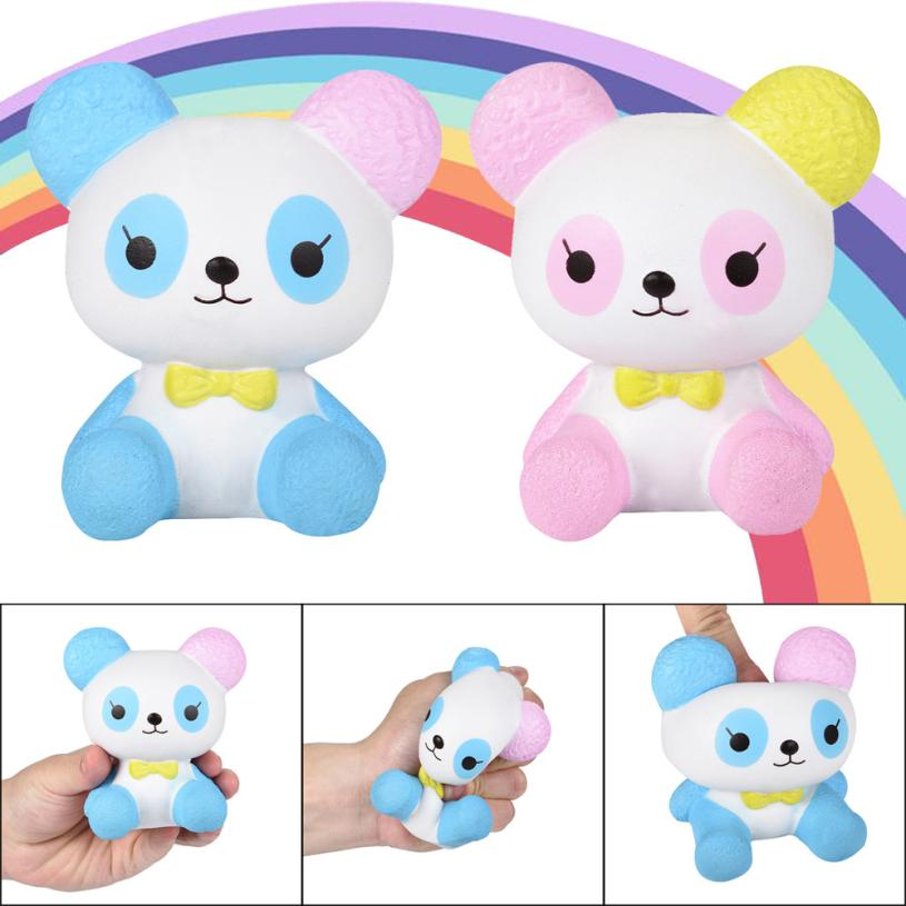 2018 sweet Cuties Newest Squishy Cartoon Panda Scented Squishy Slow Rising Squeeze Toys Collection Charm stress reliever
