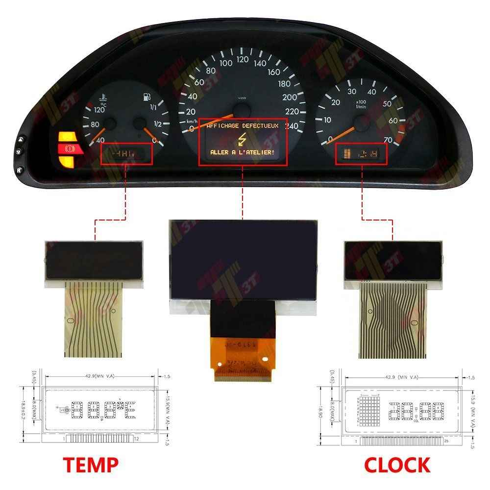 Detail Feedback Questions about For Mercedes Left Temperature LCD
